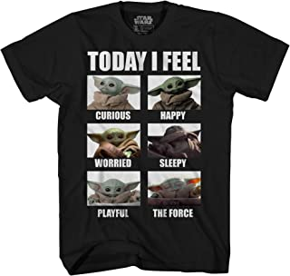 Star Wars The Mandalorian The Child Baby Yoda Today I Feel Boys Youth T-Shirt Licensed