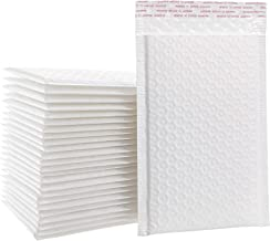 8.5x12 Inches Matte White Self Seal Shipping Padded Envelopes Poly Bubble Mailers, Pack of 25