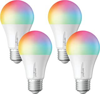 Sengled Smart LED Multicolor Light Bulb, Hub Required, RGBW Color & Tunable White 2000-6500K, A19 60W Equivalent, Works with Alexa, Google Assistant & SmartThings, 4 Pack