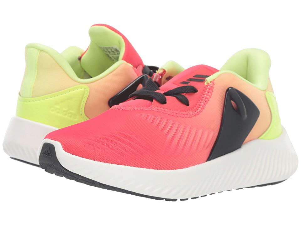 adidas Kids Alphabounce RC 2 (Little Kid/Big Kid) (Shock Red/Carbon/Hi-Res Yellow) Boys Shoes