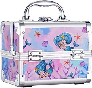 Joligrace Makeup Train Case for Girls Cosmetic Box Jewelry Organizer Hair Accessories Storage Lockable with 2-Tier Trays &...