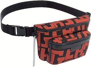 Longchamp Le Pliage LGP Medium Logo Belt Pouch Bag, Brick/Black