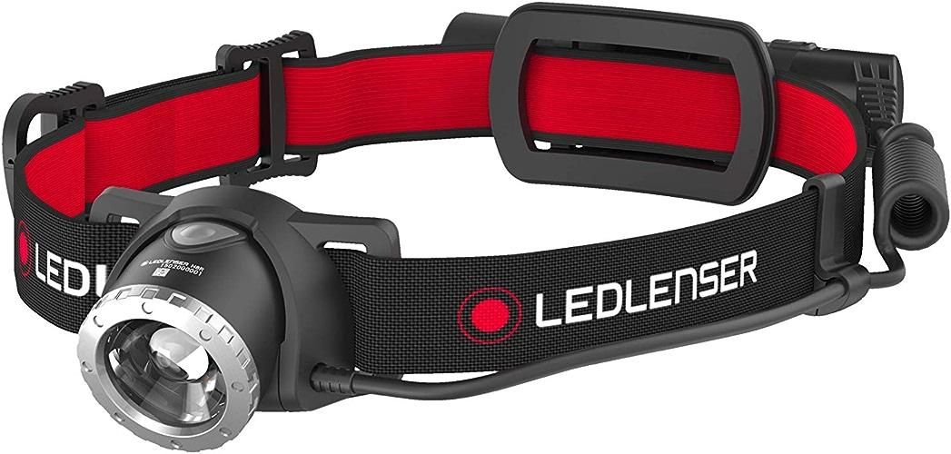 LED Lenser h8R lampe torche avec sangle pour tête, noir, rouge, IPX4, 1ampoule (s), LED, 250lm)