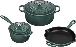 Le Creuset Signature Enameled Cast Iron Cookware Set, 5-Piece, Artichaut
