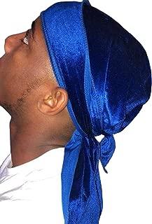 Premium Velvet Durag 360, 540,720 Waves Extra Long Tail and Wide Straps for Men Du-RAG