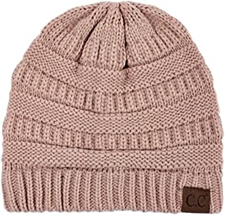 Slouchy Cable Knit Beanie Skully Hat