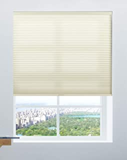 Calyx Interiors Cordless 9/16-Inch Cellular, Honeycomb Shades, 22-Inch Width by 72-Inch Height, Light Filtering Cream