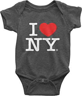 I Love NY Heather Charcoal Baby Bodysuit Officially Licensed