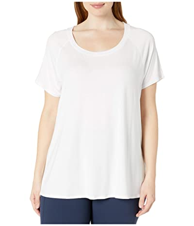 Jockey Active Plus Size Momentum Short Sleeve Tee (Pure White) Women