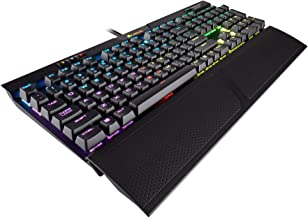 CORSAIR K70 RGB MK.2 RAPIDFIRE Mechanical Gaming Keyboard - USB Passthrough & Media Controls - Fastest & Linear - Cherry MX Speed - RGB LED Backlit (Renewed)