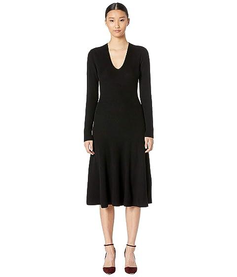 GREY Jason Wu Cashfeelyn Merino Wool V-Neck Long Sleeve Knit Day Dress