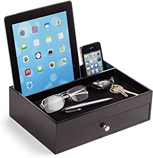 Massca Original Valet Charging Station Multi-Device Office Desk Organizer. Perfect Nightstand Organizer Great for Your Wallet, Keys, Phones and Other Electronic Devices.Perfect Gift Idea.