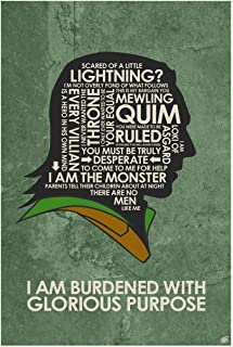 Thor. Loki: I AM Burdened with Glorious Purpose Word Art Print Poster (12