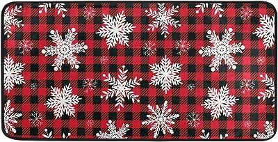 Snowflake Christmas Kitchen Long Mat Area Rug Non-Slip Anti Fatigue Comfort Floor Mat Waterproof Perfect Carpet for Kitchen 39 x 20 2030432