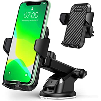 3-in-1 Extendable Dashboard Windshield Car Air Vent Cell Phone Holder Compatible with 4-6.5 Inches Mobile Phone Devices Veroyi Car Phone Mount One-Button Release Design