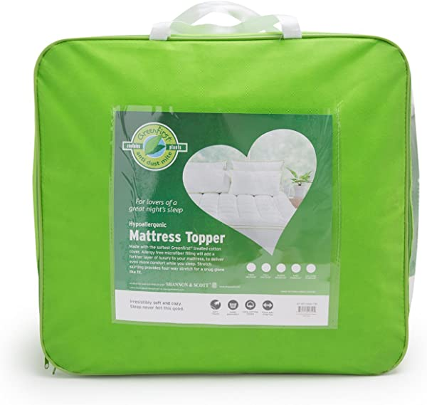 Greenfirst Anti Dust Mite Hypoallergenic Mattress Topper King