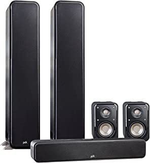Polk Audio Signature 5.0 System with 2 S55 Tower Speaker, 1 Polk S35 Center Speaker, 2 Polk S15 Bookshelf Speaker