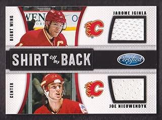 2011-12 Certified Hockey Shirt Off My Back Combo Jersey Auto #10 Jarome Iginla/Joe Nieuwendyk 16/25 Calgary Flames