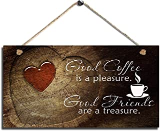 Smarten Arts Sweet Kitchen Decor Coffee Sign Good Coffee Good Friends House Decor Sign Farmhouse Coffee Wall Art Sign Size 11.5