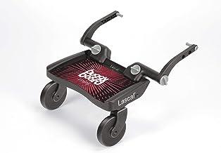 Lascal BuggyBoard Mini, Kinderbuggy Trittbrett mit Stehfläche, Kinderwagen Zubehör für Kinder von 2-6 Jahren 22 kg, kompatibel mit fast jedem Buggy und Kinderwagen, rot