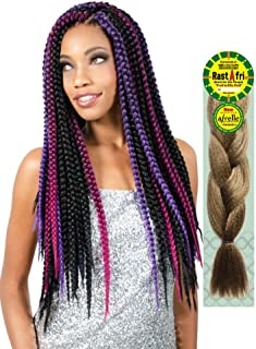 [ Pack of 2 ] Rast A Fri Freed'm Silky Braiding Hair (#1B - Off Black)