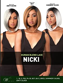 LH NICKY (1B Off Black) - THE WIG Brazilian Hair Blended Invisible Part Lace Front Wig