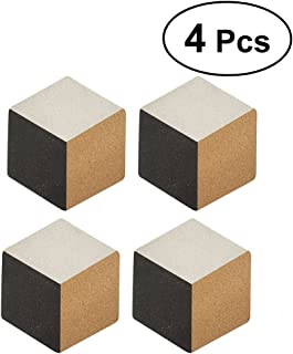 VORCOOL 4Pcs Creative Hexagonal Place Mats Nordic Style Potholders Insulation Mats Pads Home Decor (Black and White Cube Pieces)