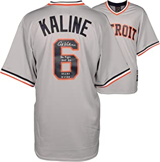 Al Kaline Detroit Tigers Autographed Gray Majestic Replica Jersey with Multiple Inscriptions - Fanatics Authentic Certified