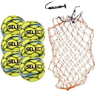 Select Campo Soccer Ball Package - Pack of 6 Soccer Balls with Ball Net and Hand Pump
