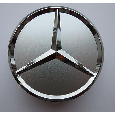 Felgendeckel Mercedes Benz 4 X 75mm Nabendeckel Radnabenkappen Radkappen Felgenkappen Nabenkappen Wheel Caps Silber Chrom Auto