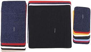 18pcs Patch Denim Patchs Couture Carré Patchs Jean Patch Denim Fer Sur Le Tissu Thermocollant Ornement de Vêtement, Patchs...