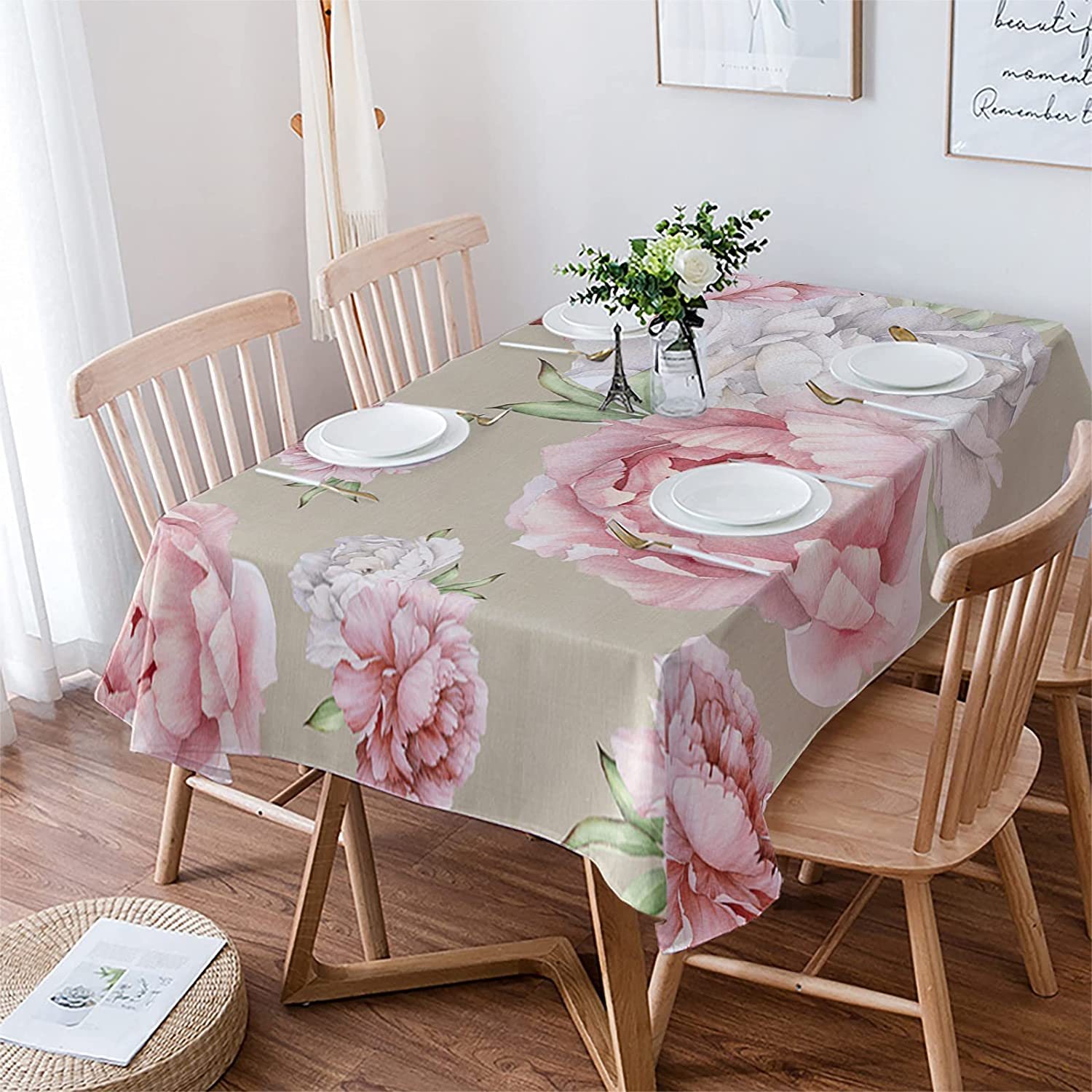 Tablecloths-53x70In Ultra Now free shipping Soft Cotton Product Linen Table F CoverVintage