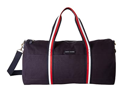 Tommy Hilfiger TH Flag Corporate Stripe Duffel (Tommy Navy) Handbags