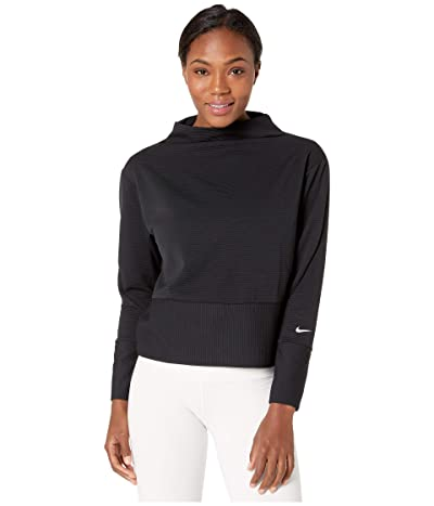 Nike Dry Get Fit Fleece Mock (Black/White) Women