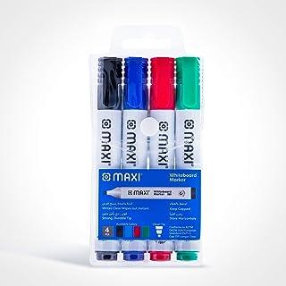 Maxi Whiteboard Marker Wallet Of 4Pc, WHITEBOARD 800-4