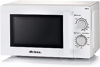 Ariete 952, Microondas de acabado, 20 litros, calefacción, cocina y descongelante, 5 niveles de potencia, 3 funciones combinadas, grill, plato giratorio 25,5 cm, temporizador 35 minutos, blanco