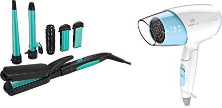 Havells HC4045 5 in 1 Multi Styling Kit (Blue/Black) & Havells HD3201 1500W Ionic Hair Dryer (Blue)
