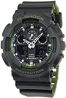 GA-100L-1A G-Shock GA-100 Military Series Watch (Black / One Size)