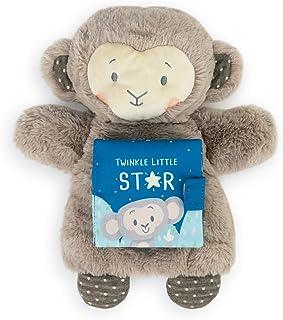 Demdaco Twinkle Little Stary Grey Monkey Puppet 9.5 x 3.5 Plush Children's Soft Book Toy