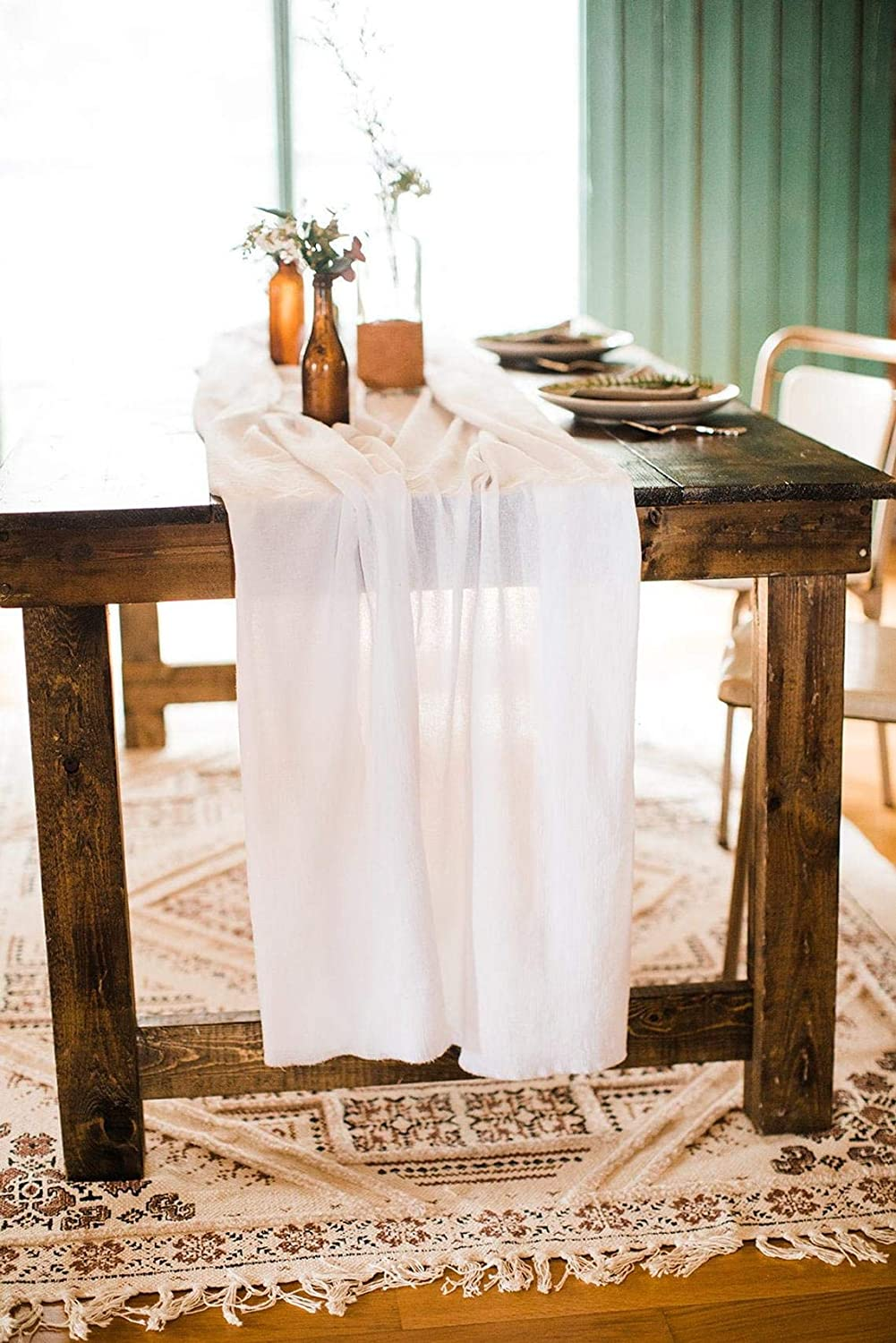 Wedding Runner - Cheesecloth Popular popular Gauze New product type White Table Ru