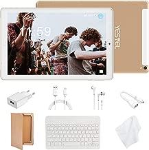 Tablet 10 Pulgadas 4G LTE Tabletas con 3GB RAM & 32GB ROM y YESTEL Android 8.0 Dual SIM Call, 5.0 MP + 8.0 MP HD la Cámara y 8000mAH (WI-FI ,GPS, Bluetooth ,FM Radio) Blanco/Dorado