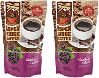 ASPEN RIDGE COFFEE MEDIUM ROAST, BLACKBERRY COBBLER 12 OZ. (2 pack)