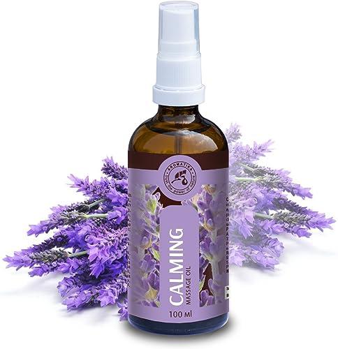 Huile Massage 100ml - 100% Pur et Naturel - Massage Huiles pour Soulager le Stress - Bon Sommeil - Relax - Beauté - B...