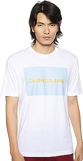 Calvin Klein Men's INSTIT BOX LOGO REG S/S T-Shirt