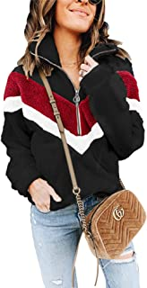 Womens Faux Fur Coats Casual Loose Pullover Fleece Sweatshirt Outwear (S-XXL)