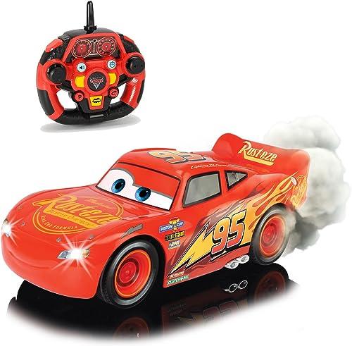 Cars 3 RC ferngesteuerter Lightning McQueen mit Turbofunktion, Rauchfunktion und Driftmodus  isney ferngesteuertes Elektro Spielzeugauto 1 16