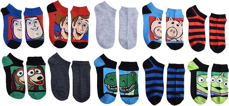 Toy Story 4 Boys No Show Socks, Blue, Medium