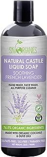 Castile Soap Organic French Lavender by Sky Organics (32oz), Plant Based Liquid Soap and All Purpose Wash, Vegan & Cruelty-Free, Lavender Essential Oils Natural Castile Soap Savon de Marseille