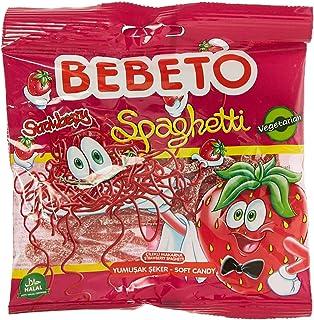 Bebeto Licorice Strawberry Spaghetti, 80 gm
