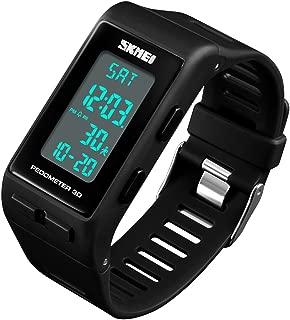Women Mens Sports Watches Pedometer Calorie Digital Watch Waterproof LED Electronic Wrist Watch